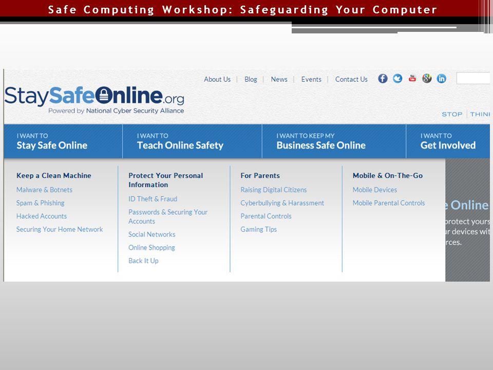 Safe Computing Workshop: Safeguarding Your Computer