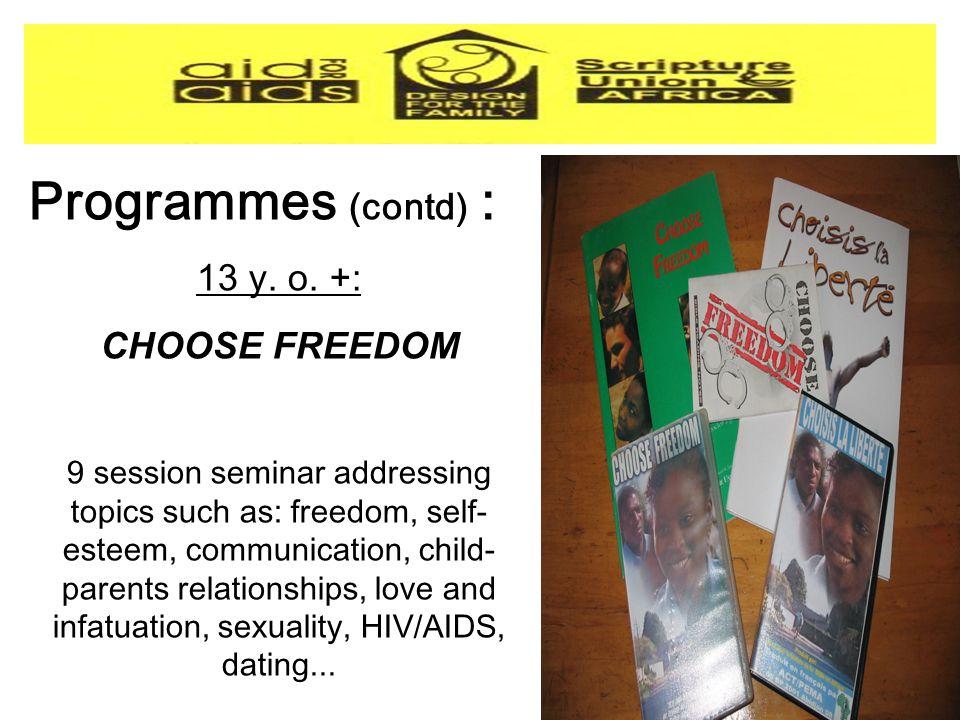 Programmes (contd) : 13 y. o.