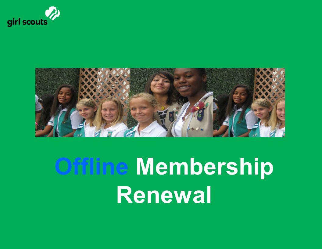 Offline Membership Renewal