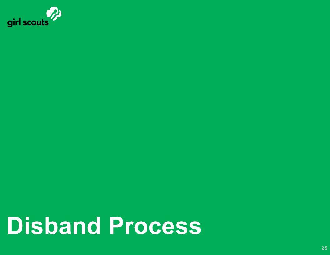 Disband Process 25