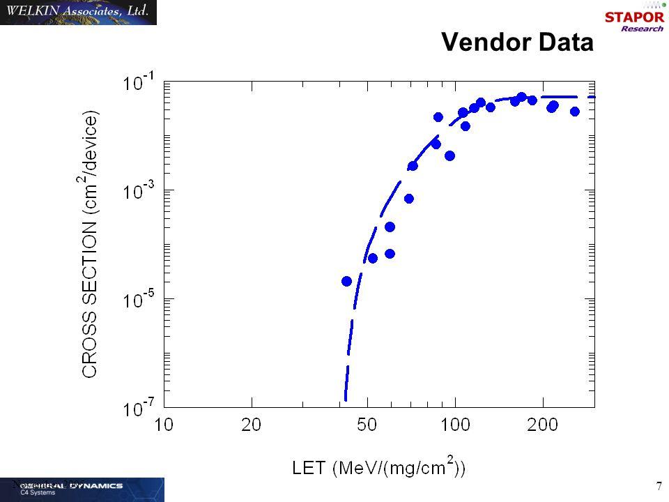 November 2005 7 Vendor Data