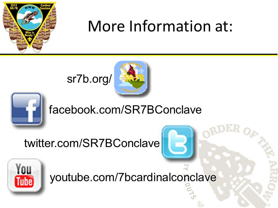 More Information at: facebook.com/SR7BConclave twitter.com/SR7BConclave sr7b.org/ youtube.com/7bcardinalconclave