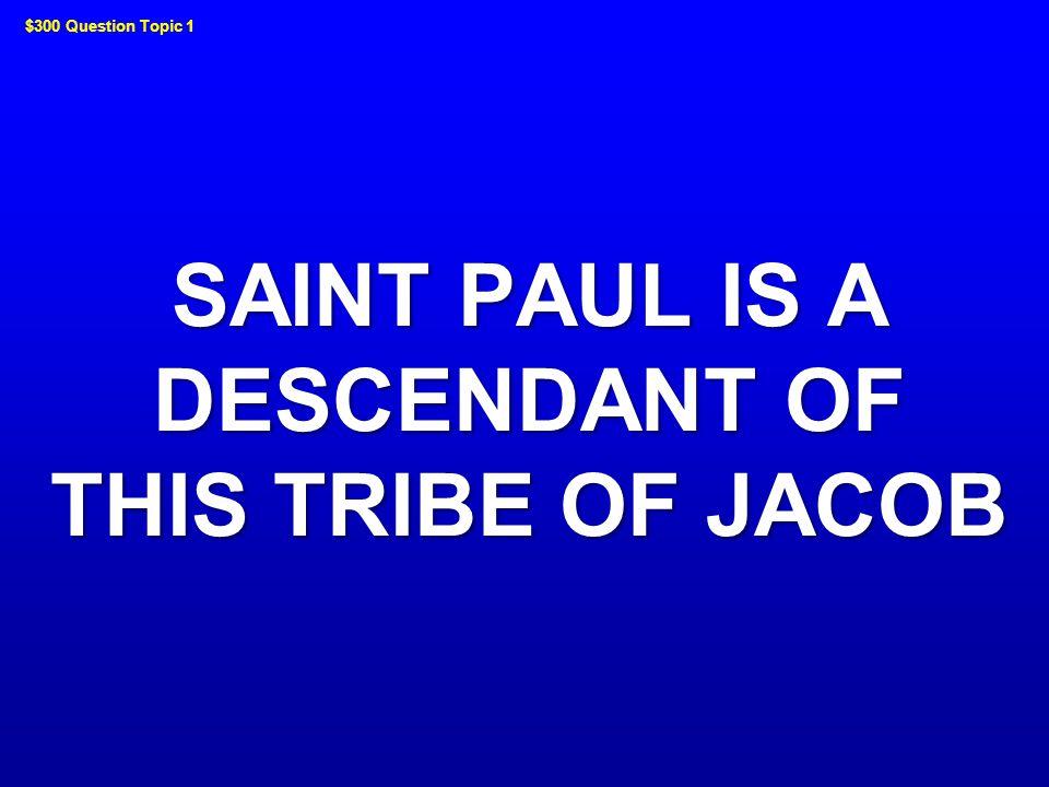 WHO WAS SAINT STEPHEN JEOPARDY ! JEOPARDY !