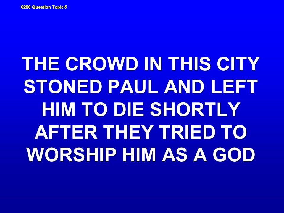 WHO WAS BARJESUS JEOPARDY ! JEOPARDY !