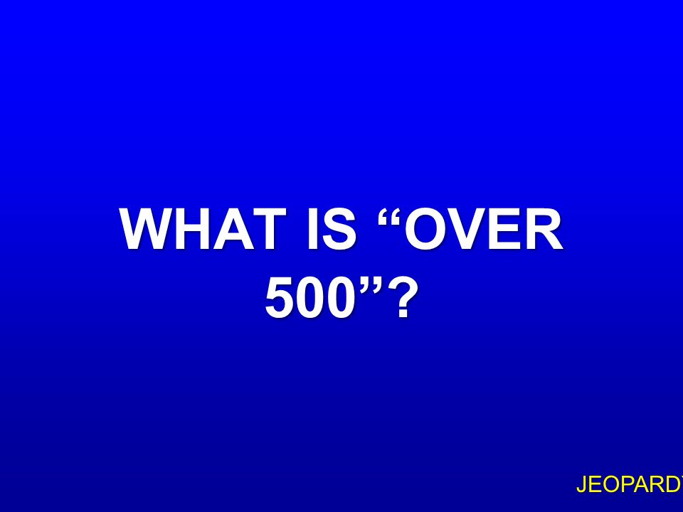 $500 Question Topic 6 IN HIS FIRST LETTER TO THE CORINTHIANS, PAUL MENTIONS THAT THE RESURRECTED CHRIST APPEARED TO THIS MANY PEOPLE AT THE SAME TIME
