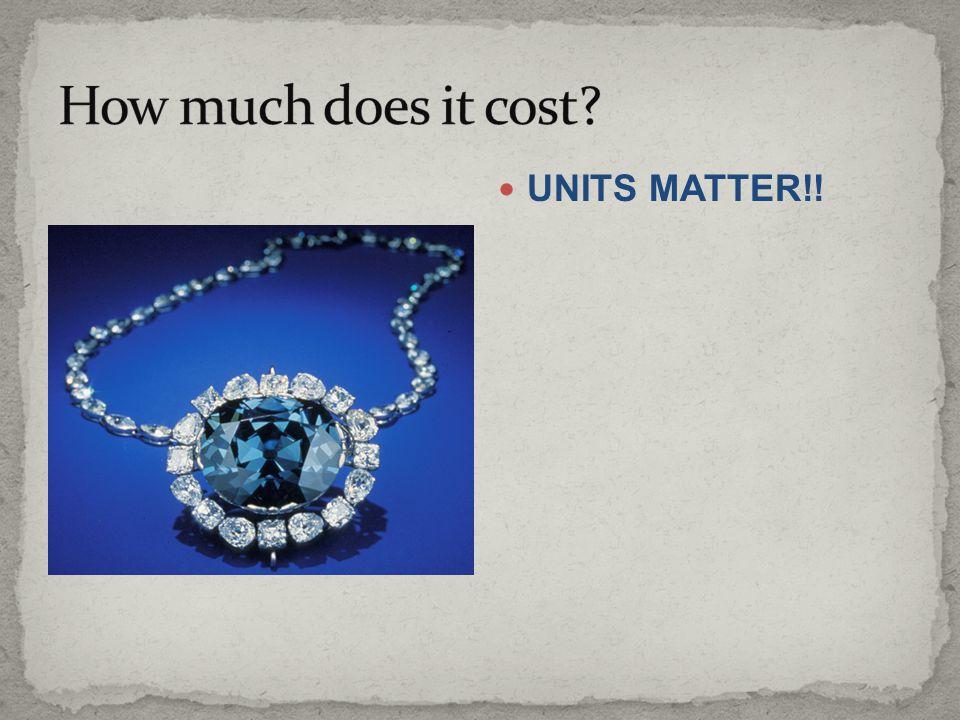 UNITS MATTER!!