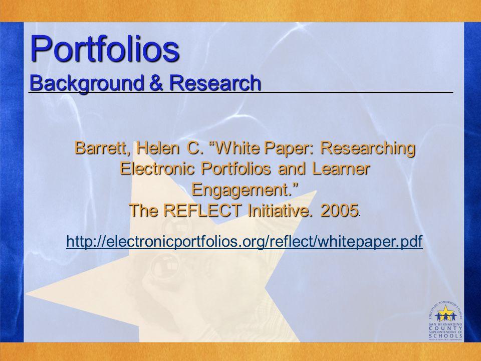 Portfolios Background & Research Barrett, Helen C.
