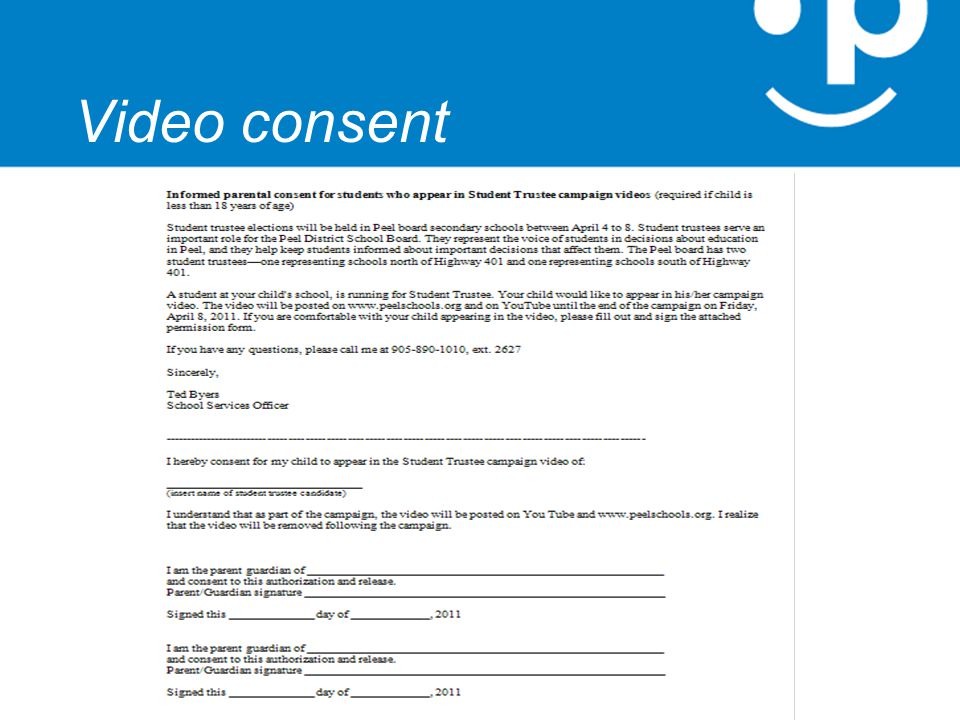 Video consent