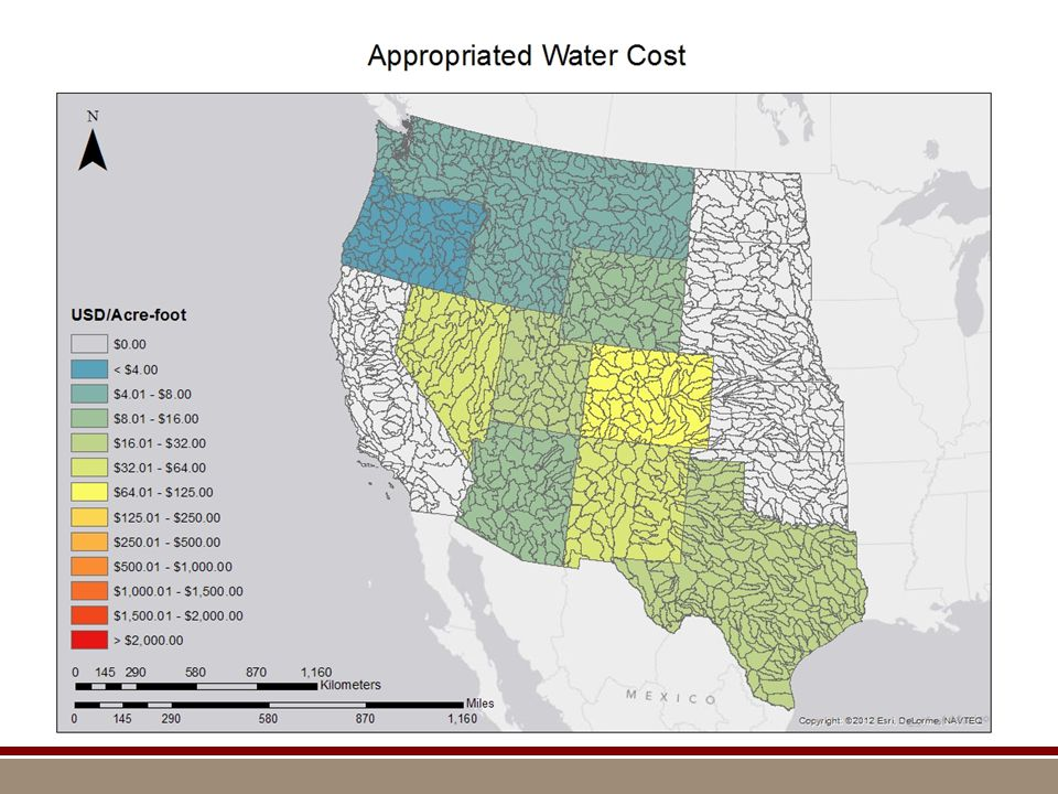Appropriated Water Cost