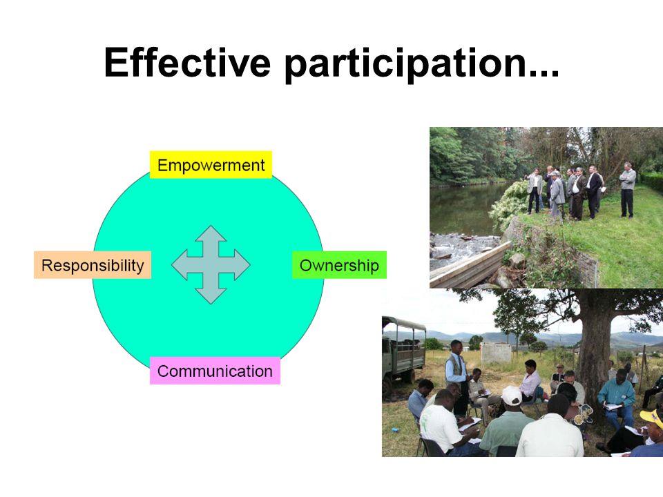 Effective participation...