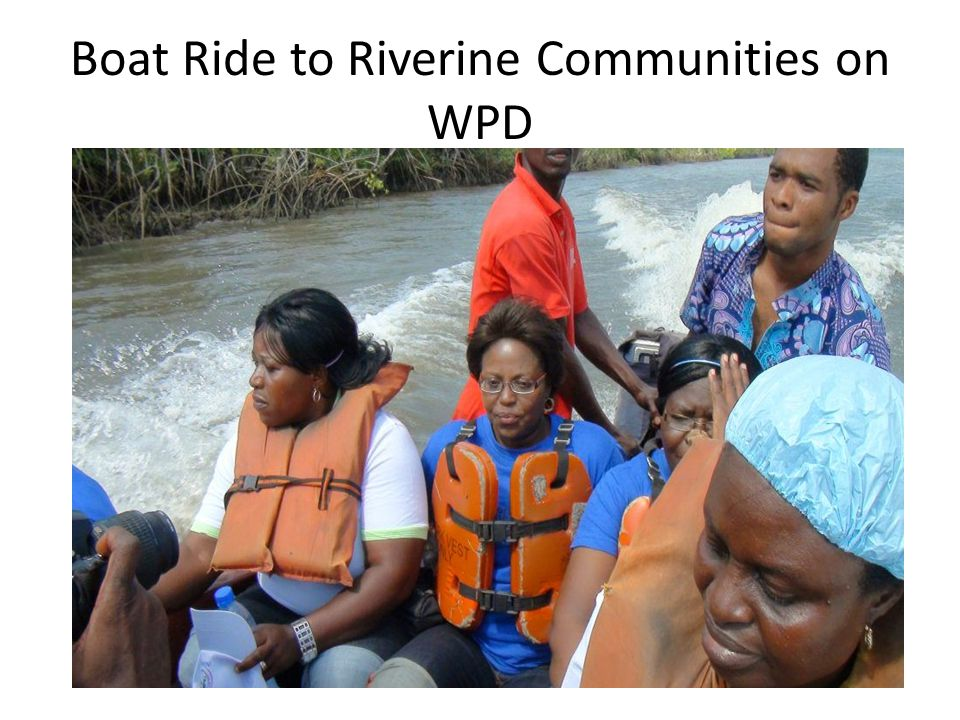 Boat Ride to Riverine Communities on WPD