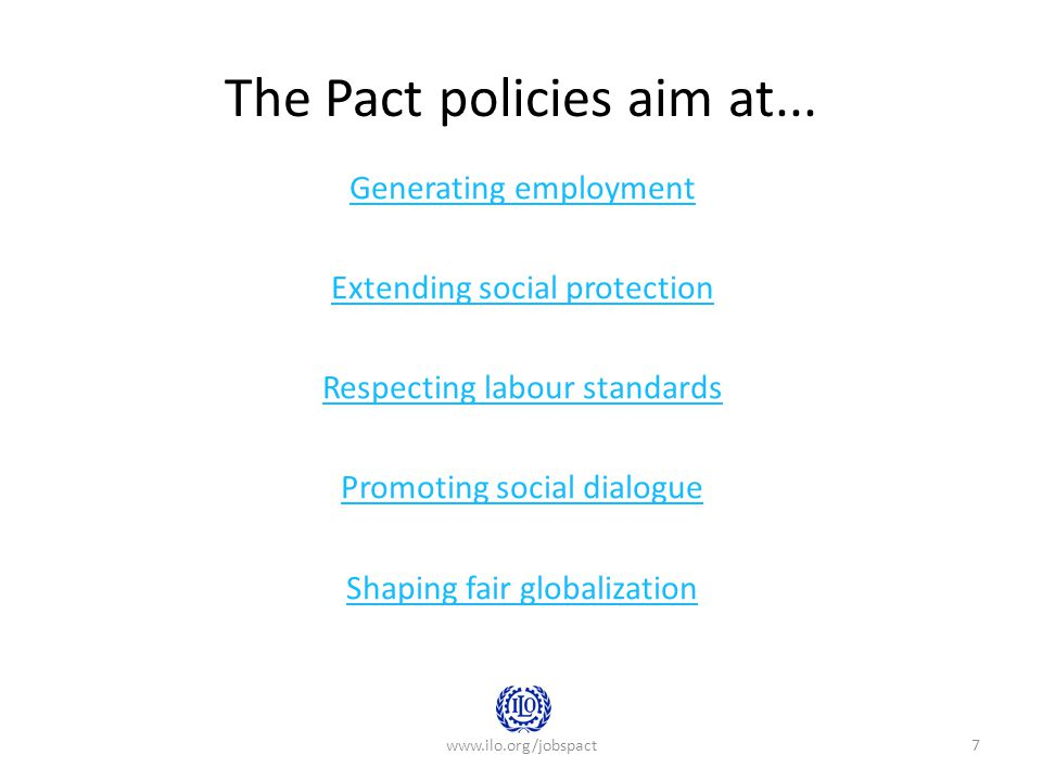 The Pact policies aim at...