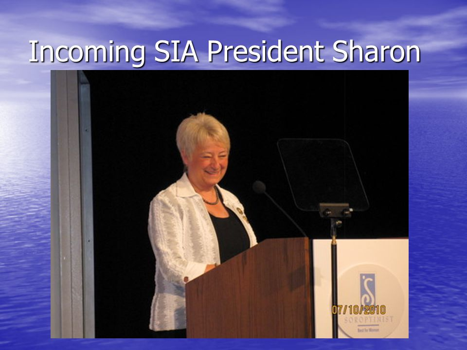 Incoming SIA President Sharon