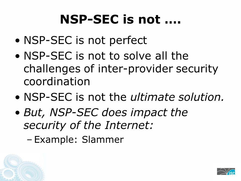 NSP-SEC is not ….
