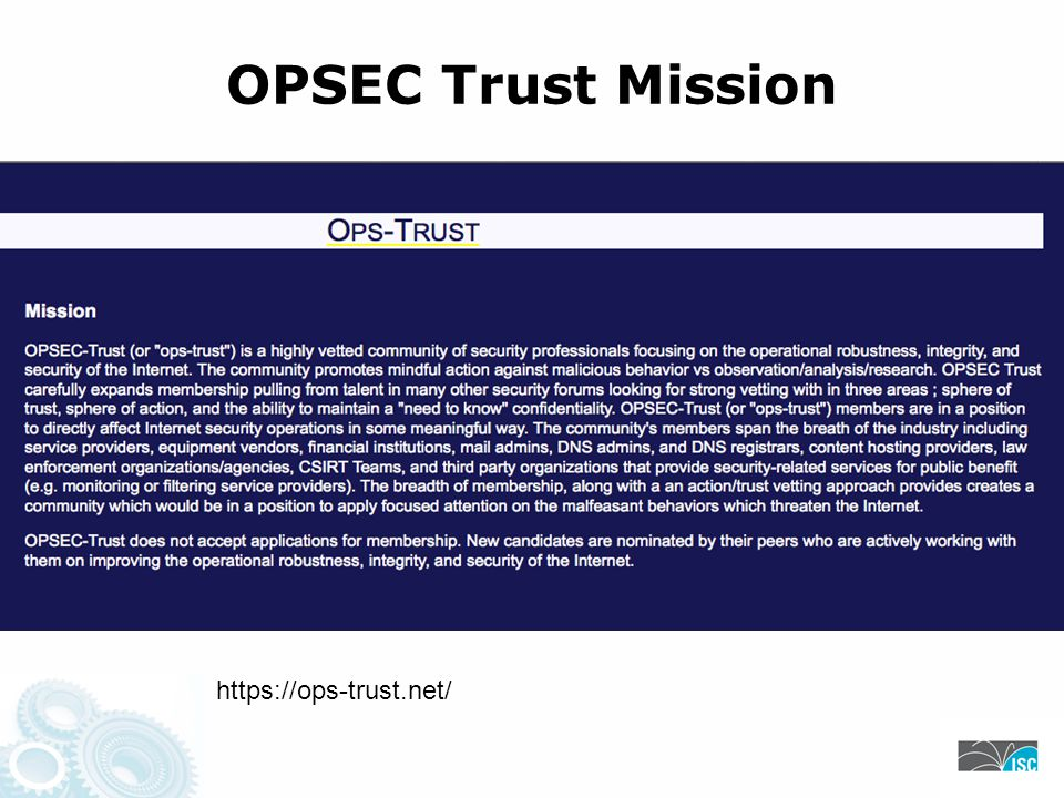 OPSEC Trust Mission https://ops-trust.net/