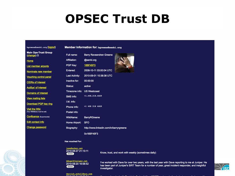 OPSEC Trust DB