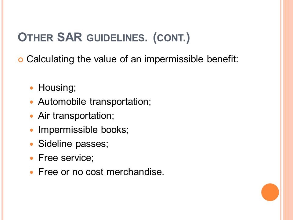 O THER SAR GUIDELINES.