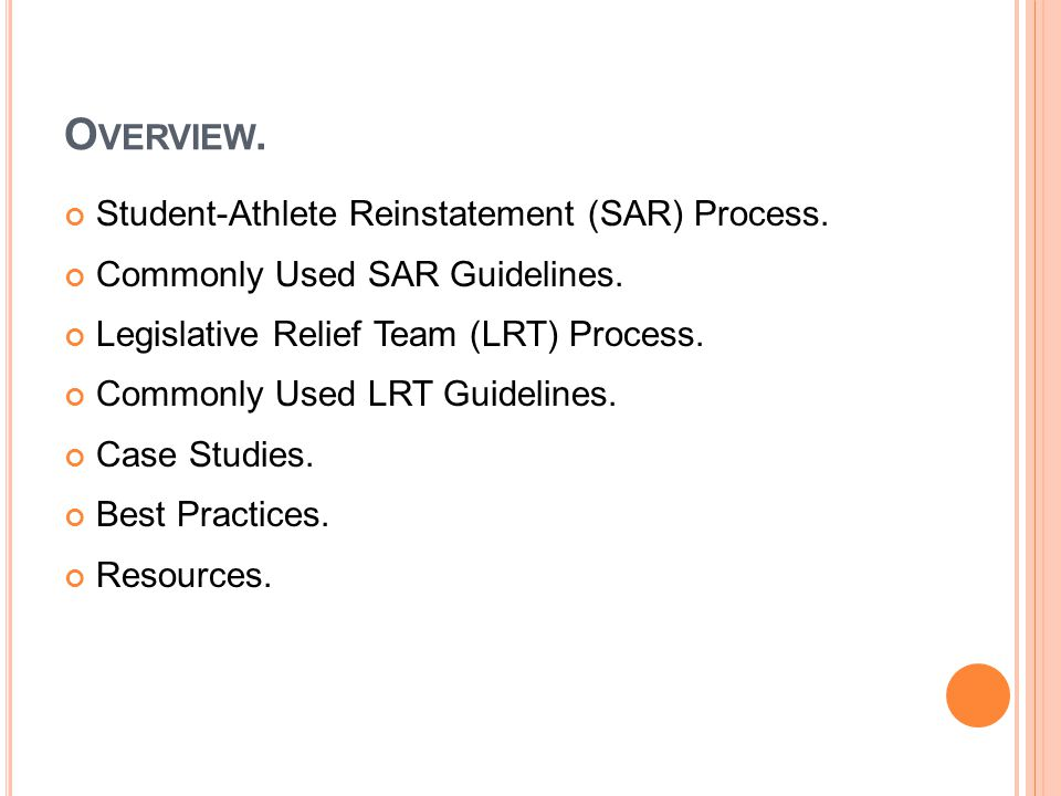 C OMMONLY APPLIED SAR GUIDELINES.Division II Bylaw 16.11.2.1.