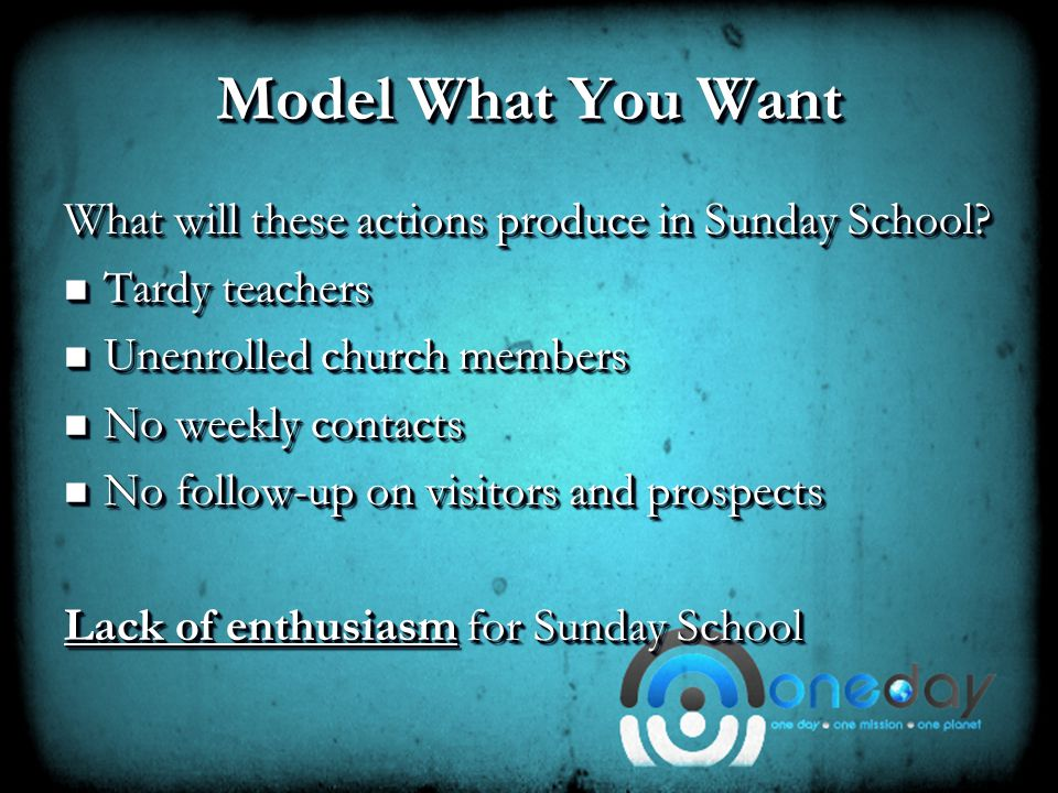 Leadership Meetings Leadership meetings include: Prayer for the Sunday School Prayer for the Sunday School Accountability Accountability Opportunities for new ideas to surface Opportunities for new ideas to surface Training Training Assignments – ministry and outreach Assignments – ministry and outreach Leadership meetings include: Prayer for the Sunday School Prayer for the Sunday School Accountability Accountability Opportunities for new ideas to surface Opportunities for new ideas to surface Training Training Assignments – ministry and outreach Assignments – ministry and outreach