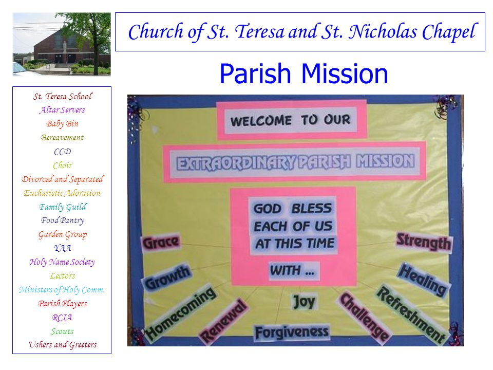 Parish Mission Have you ever met Jesus...His love and His mercy.