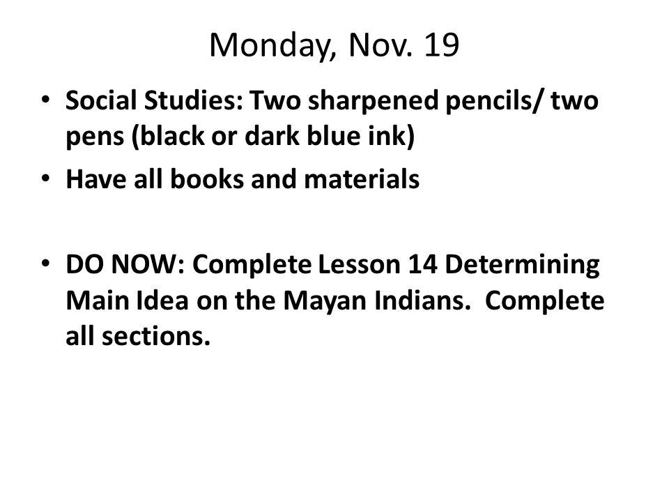 Monday, Nov.