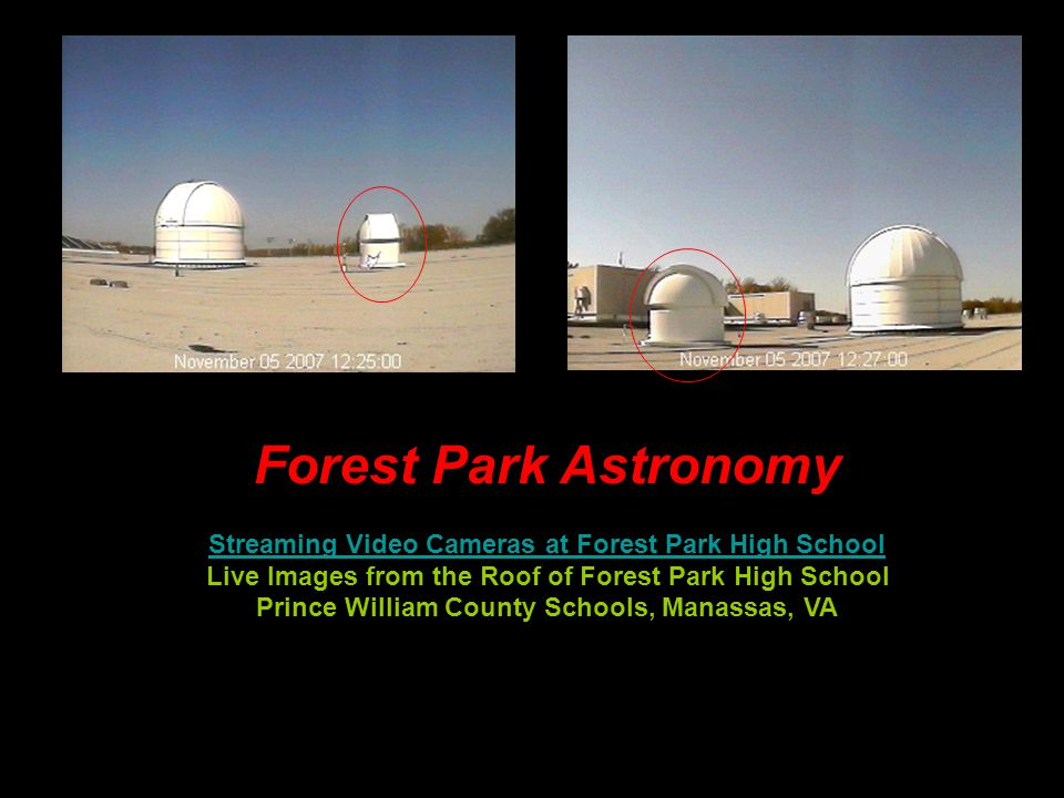 Plymouth Observatory Streaming Video Cameras at PStreaming Video Cameras at PCIS 'Live' Images from the Roof of Plymouth Community Intermediate School Plymouth Public Schools, Plymouth, MA