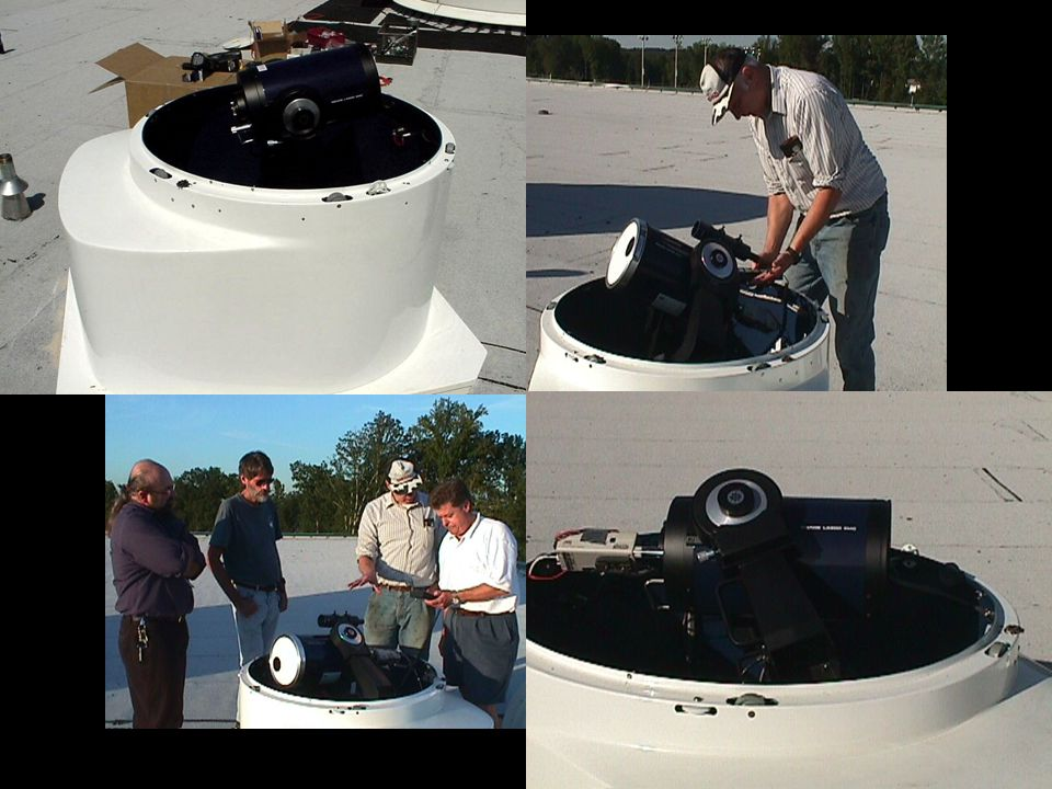 Coronado Hα $659 (PST) Coronado CaK (tbd!) $599 (PST) LX200R 8 $2699 (10 $3699 *) Solar filter * $112.50 (10 $97.50 off-axis) Meade LPI $99 DSI $399 ST-7XME ccd camera SBIG $2495 Digital spectrograph SBIG $1595 Filter wheel & 5 filters SBIG $595 Spectrograph of Vega auto-focuser $450 (JMI) * donated by Steve Zulon