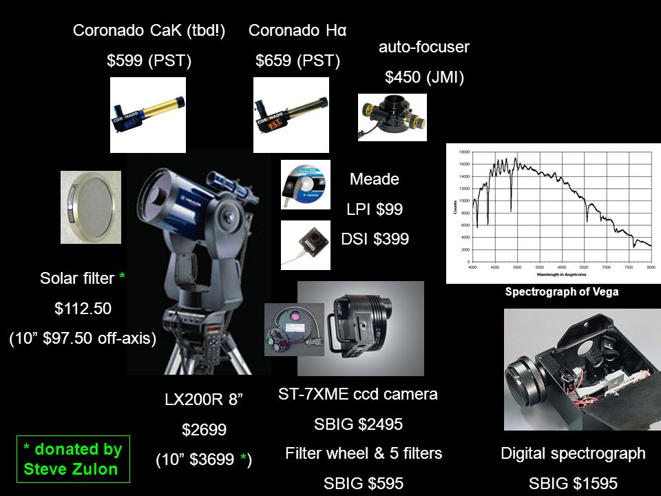 All Sky /Meteor camera/ Cloud Sensor $1999 Boltwood Cloud Sensor $1500 cloud, rain, snow wind speed temperature & humidity