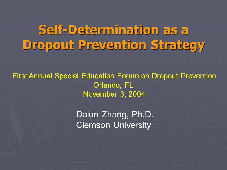 Activity ► Discussion & Identification of At-Risk Factors for Dropout for Students with Disabilities ► Which Elements of Self-Determination Can Be Used to Mediate/Reduce the Risks and How?