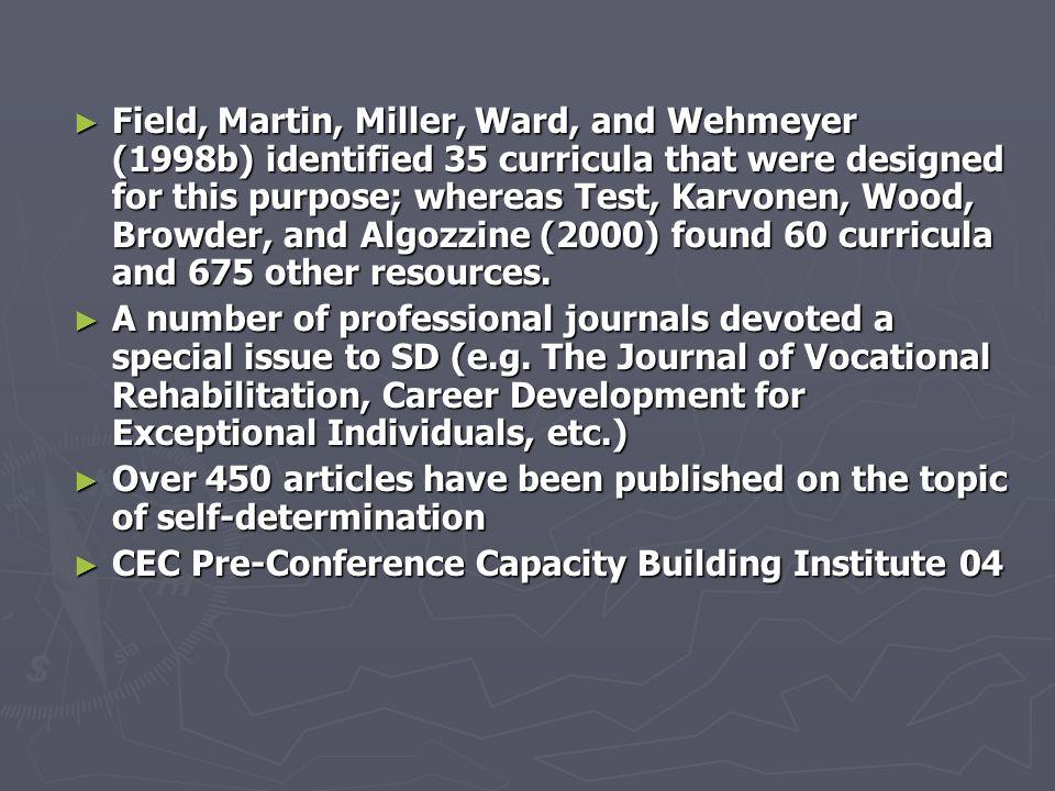 ► Background ► Phase I (mid-1980 - 1990) ► Phase II (1990 - present) Federal Mandates Federal Initiatives Self-Determination Movement