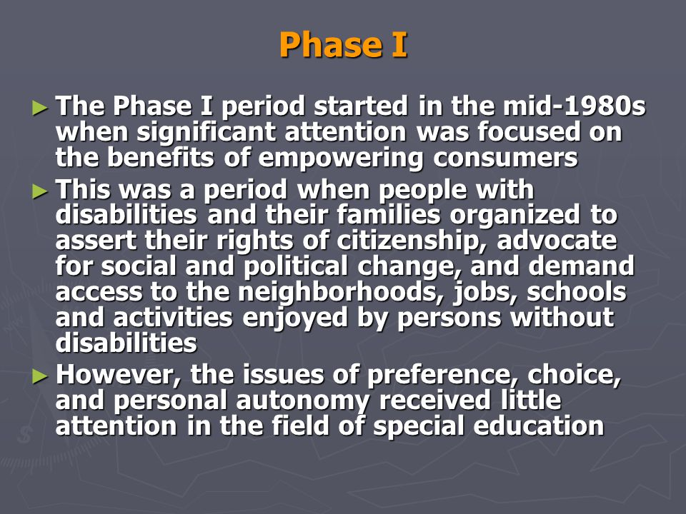 Self-Determination Models ► Wehmeyer s (1997) self- determination model focuses on the conceptualization of the concept of self-determination.