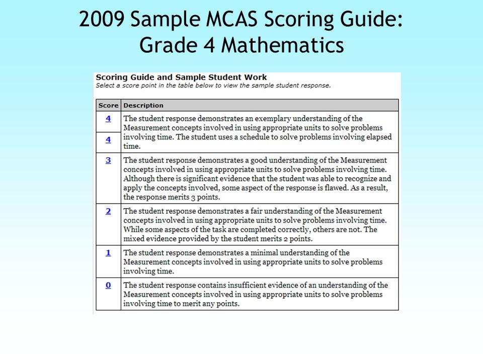 2009 Sample MCAS Question: Grade 7 Mathematics