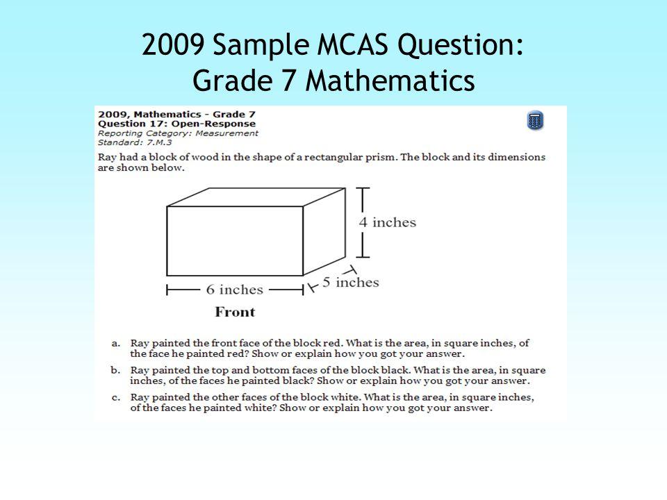 2009 Sample MCAS Response: Grade 7 Mathematics