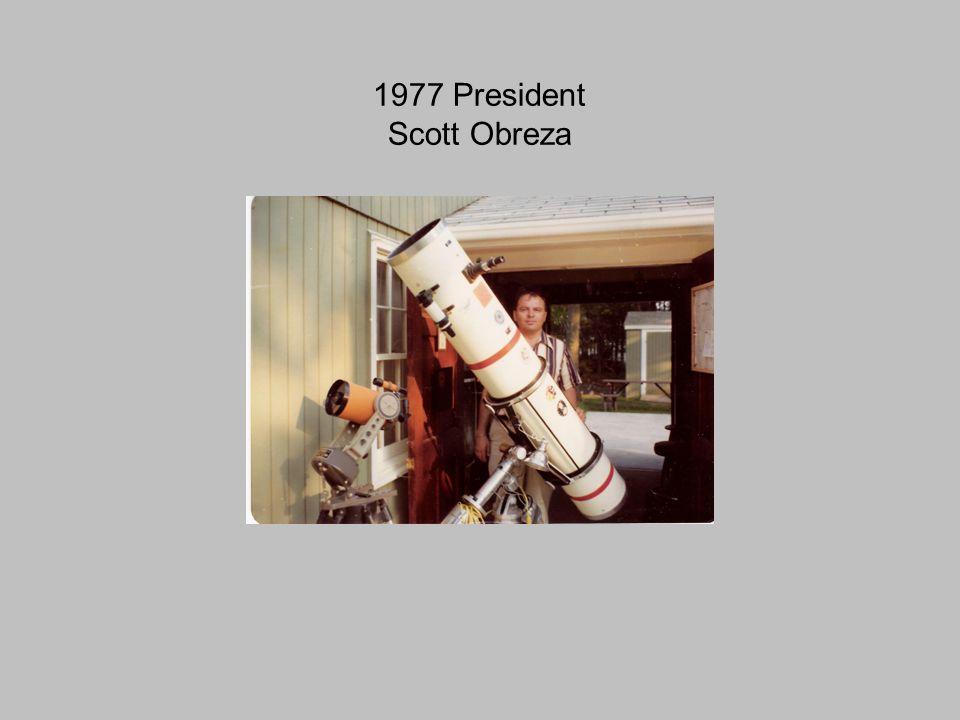 1977 President Scott Obreza