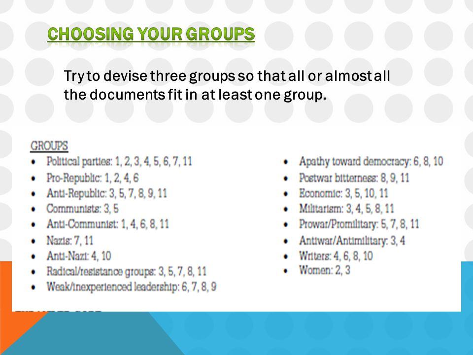 Once you have chosen your three groups, writing a thesis is easy.