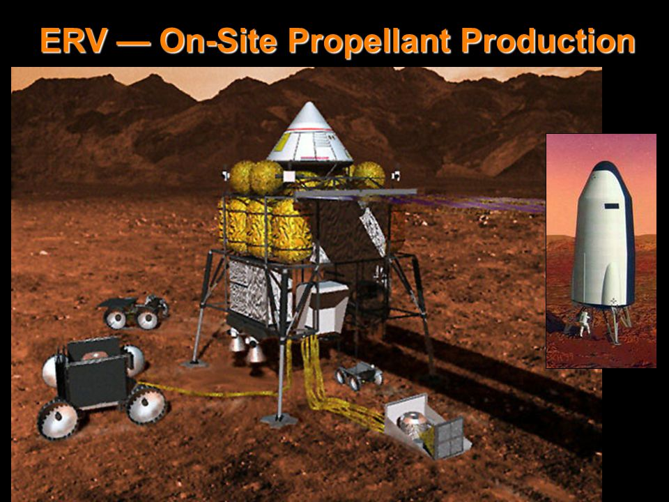 Mars Direct - ISPP on Mars ERV — On-Site Propellant Production
