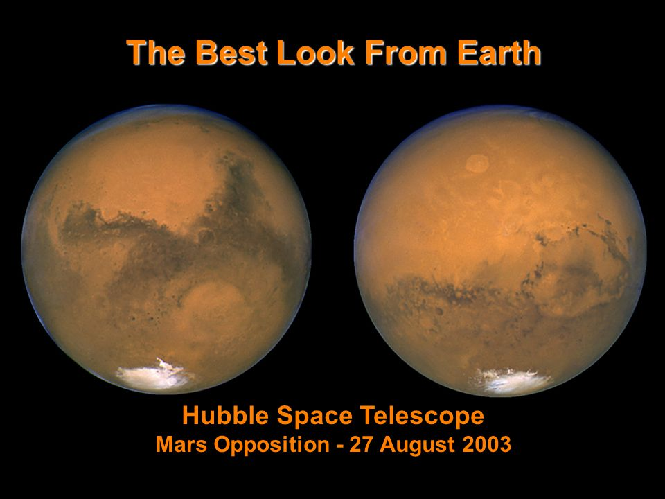 The Best Look From Earth Hubble Space Telescope Mars Opposition - 27 August 2003