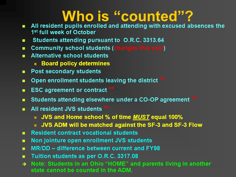 Who is counted .