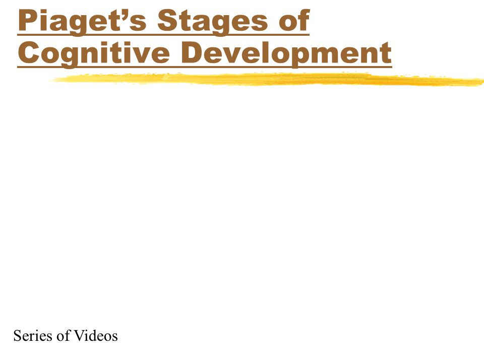 Piaget's Stages of Cognitive Development Series of Videos