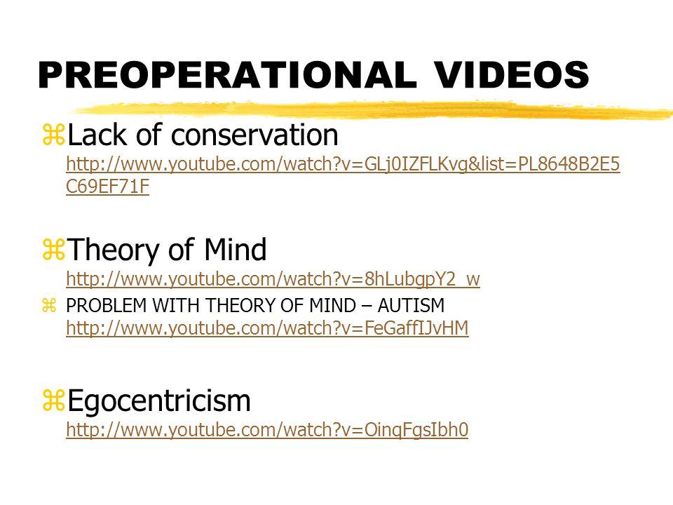 PREOPERATIONAL VIDEOS zLack of conservation http://www.youtube.com/watch?v=GLj0IZFLKvg&list=PL8648B2E5 C69EF71F http://www.youtube.com/watch?v=GLj0IZF