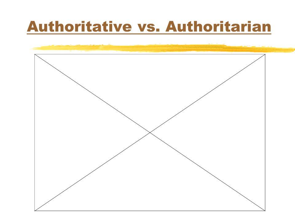Authoritative vs. Authoritarian