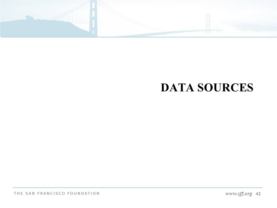 www.sff.org 42 DATA SOURCES