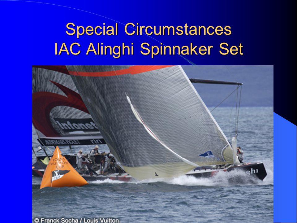 Special Circumstances IAC Alinghi Spinnaker Set