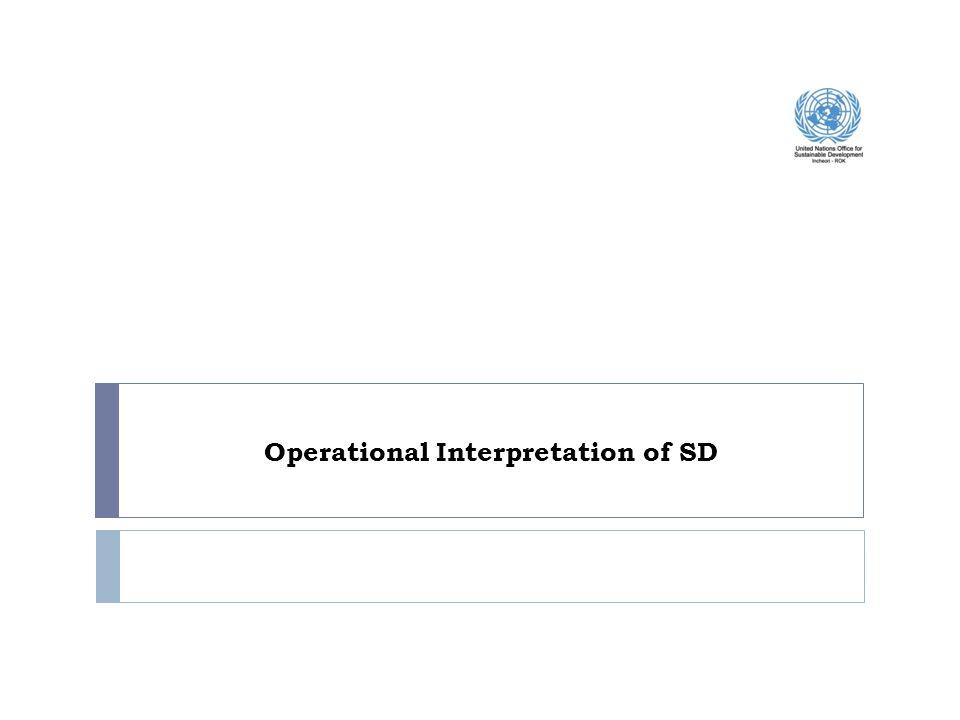 Operational Interpretation of SD