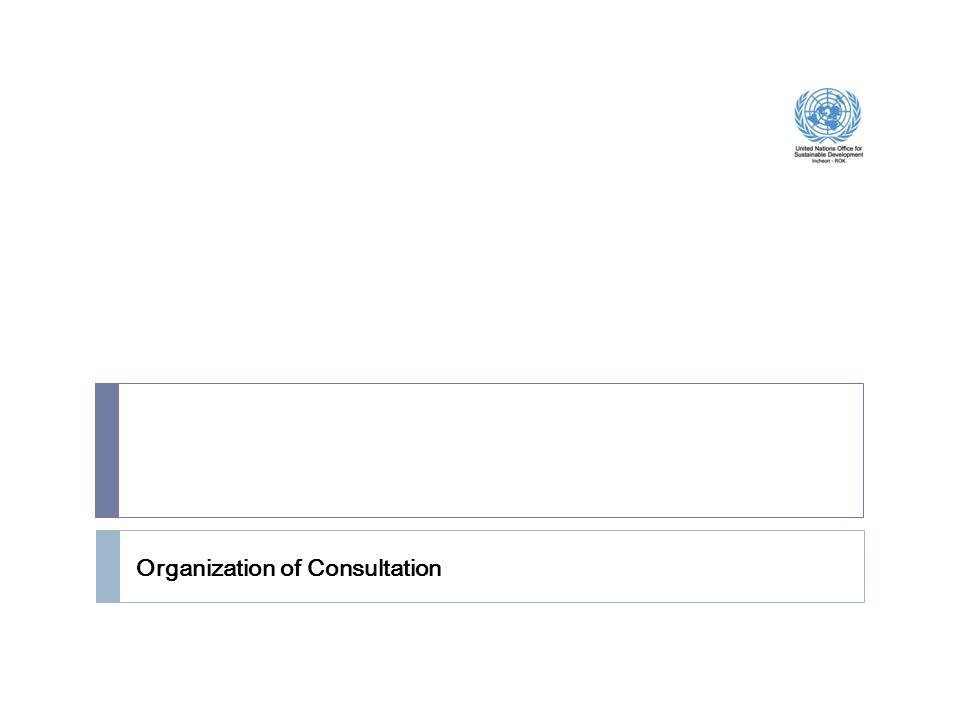 Organization of Consultation