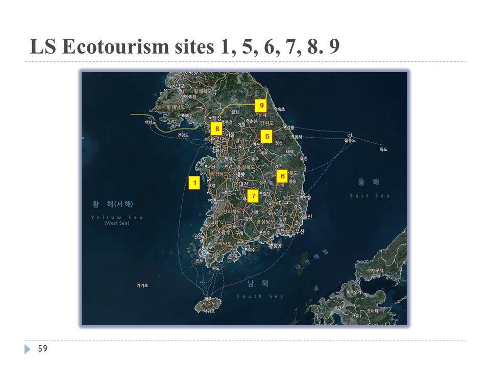 LS Ecotourism sites 1, 5, 6, 7, 8. 9 59 1 5 6 7 8 9