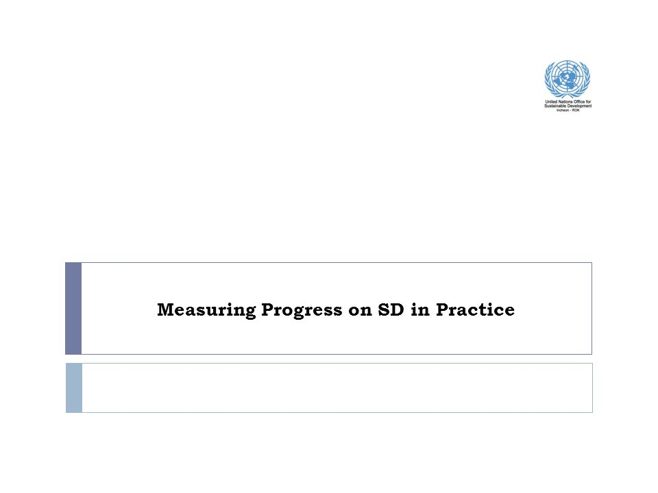 In measuring progress, the Agenda 21 recommended… 9 Chapter 40 of Agenda 21 was on Information for Decision Making and identified two programme areas : (a)Bridging the data gap; (b)Improving information availability.