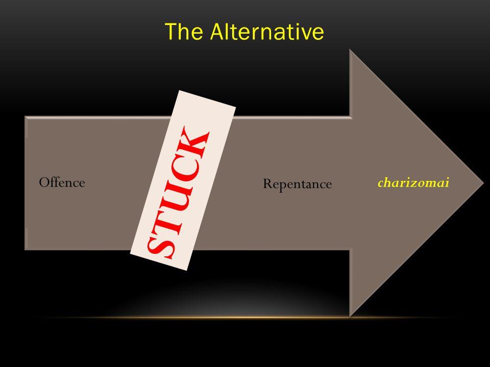 The Alternative charizomai Repentanceaphiemi Offence STUCK