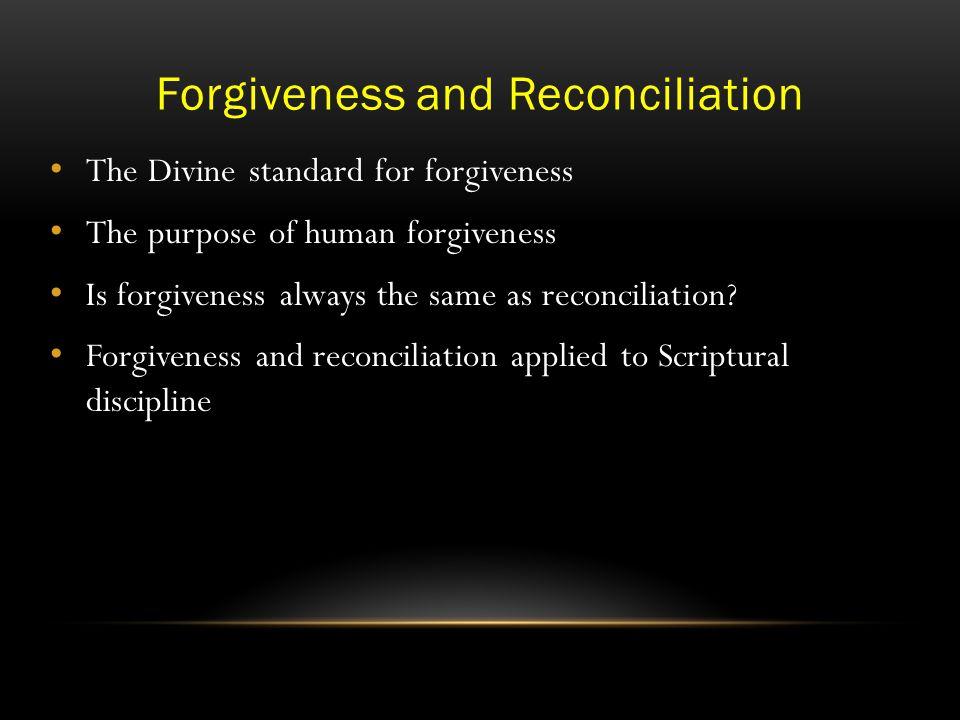 How Do We Forgive.