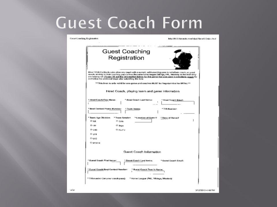 Guest Coach Form